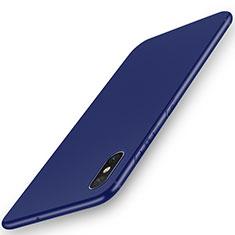 Custodia Silicone Ultra Sottile Morbida Cover S03 per Xiaomi Mi 8 Explorer Blu