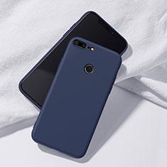 Custodia Silicone Ultra Sottile Morbida Cover S07 per Huawei Honor 9 Lite Blu