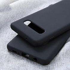Custodia Silicone Ultra Sottile Morbida Cover U01 per Samsung Galaxy S10 Plus Nero