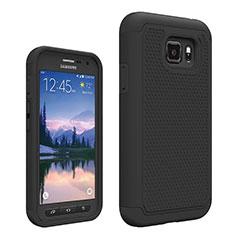 Custodia Silicone Ultra Sottile Morbida Fronte e Retro 360 Gradi per Samsung Galaxy S7 Active G891A Nero
