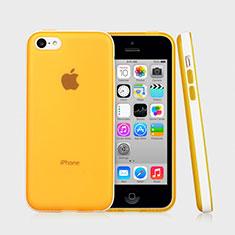 Custodia Silicone Ultra Sottile Morbida Laterale Opaca per Apple iPhone 5C Giallo