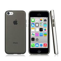 Custodia Silicone Ultra Sottile Morbida Laterale Opaca per Apple iPhone 5C Grigio