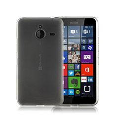 Custodia Silicone Ultra Sottile Morbida Opaca per Microsoft Lumia 640 XL Lte Grigio
