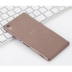 Custodia Silicone Ultra Sottile Morbida Opaca per Sony Xperia Z3 Grigio