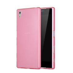 Custodia Silicone Ultra Sottile Morbida Opaca per Sony Xperia Z5 Rosa