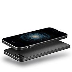 Custodia Silicone Ultra Sottile Morbida per Apple iPhone 5S Nero