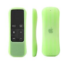 Custodia Silicone Ultra Sottile Morbida per Apple TV 4 Verde