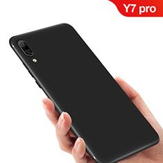 Custodia Silicone Ultra Sottile Morbida per Huawei Y7 Pro (2019) Nero