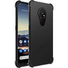 Custodia Silicone Ultra Sottile Morbida per Nokia 7.2 Nero