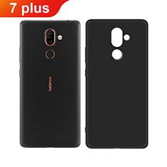 Custodia Silicone Ultra Sottile Morbida per Nokia 7 Plus Nero