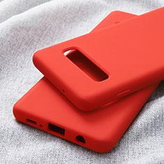 Custodia Silicone Ultra Sottile Morbida per Samsung Galaxy S10 Plus Rosso