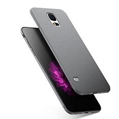 Custodia Silicone Ultra Sottile Morbida per Samsung Galaxy S5 Duos Plus Grigio