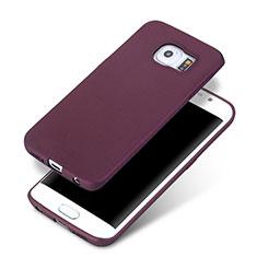 Custodia Silicone Ultra Sottile Morbida per Samsung Galaxy S6 Edge+ Plus SM-G928F Viola
