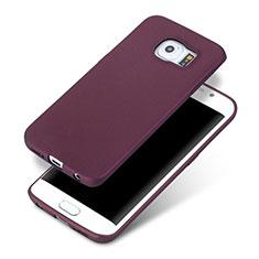 Custodia Silicone Ultra Sottile Morbida per Samsung Galaxy S6 Edge SM-G925 Viola