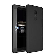 Custodia Silicone Ultra Sottile Morbida per Xiaomi Redmi Note 4 Standard Edition Nero