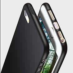 Custodia Silicone Ultra Sottile Morbida R01 per Apple iPhone SE Nero