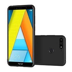 Custodia Silicone Ultra Sottile Morbida S02 per Huawei Honor 7A Nero