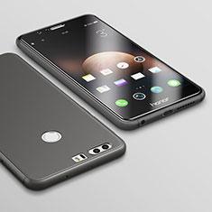 Custodia Silicone Ultra Sottile Morbida S02 per Huawei Honor 8 Nero