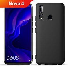 Custodia Silicone Ultra Sottile Morbida S02 per Huawei Nova 4 Nero