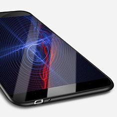 Custodia Silicone Ultra Sottile Morbida S02 per Huawei P8 Lite Smart Nero