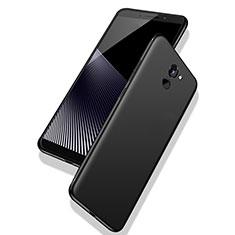 Custodia Silicone Ultra Sottile Morbida S02 per Huawei Y7 Prime Nero