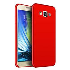 Custodia Silicone Ultra Sottile Morbida S02 per Samsung Galaxy A7 Duos SM-A700F A700FD Rosso