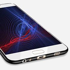 Custodia Silicone Ultra Sottile Morbida S02 per Samsung Galaxy C7 Pro C7010 Nero