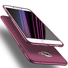 Custodia Silicone Ultra Sottile Morbida S02 per Samsung Galaxy C7 SM-C7000 Viola