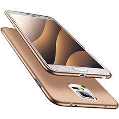 Custodia Silicone Ultra Sottile Morbida S02 per Samsung Galaxy Note 4 Duos N9100 Dual SIM Oro