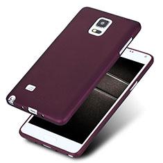 Custodia Silicone Ultra Sottile Morbida S02 per Samsung Galaxy Note 4 SM-N910F Viola