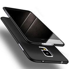 Custodia Silicone Ultra Sottile Morbida S02 per Samsung Galaxy S5 G900F G903F Nero