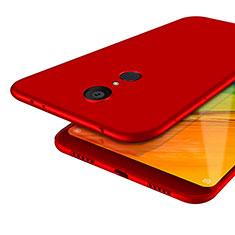 Custodia Silicone Ultra Sottile Morbida S02 per Xiaomi Redmi 5 Rosso