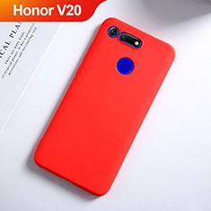 Custodia Silicone Ultra Sottile Morbida S03 per Huawei Honor V20 Rosso