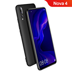 Custodia Silicone Ultra Sottile Morbida S03 per Huawei Nova 4 Nero