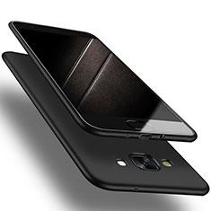 Custodia Silicone Ultra Sottile Morbida S03 per Samsung Galaxy A7 Duos SM-A700F A700FD Nero