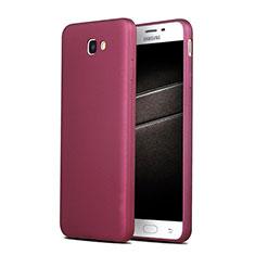 Custodia Silicone Ultra Sottile Morbida S03 per Samsung Galaxy J7 Prime Viola