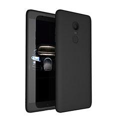 Custodia Silicone Ultra Sottile Morbida S03 per Xiaomi Redmi Note 4 Nero