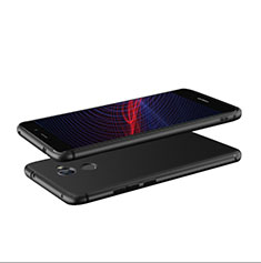 Custodia Silicone Ultra Sottile Morbida S04 per Huawei Enjoy 7 Plus Nero