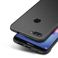 Custodia Silicone Ultra Sottile Morbida S04 per Huawei P Smart Nero