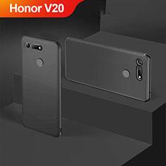 Custodia Silicone Ultra Sottile Morbida S05 per Huawei Honor View 20 Nero