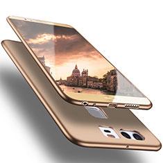 Custodia Silicone Ultra Sottile Morbida S05 per Huawei P9 Plus Oro