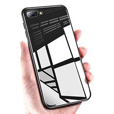 Custodia Silicone Ultra Sottile Morbida Specchio M01 per Huawei Honor 10 Nero