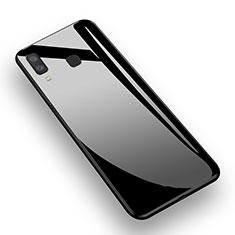 Custodia Silicone Ultra Sottile Morbida Specchio M01 per Samsung Galaxy A8 Star Nero