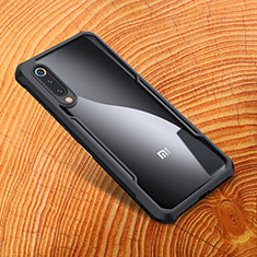 Custodia Silicone Ultra Sottile Morbida Specchio M01 per Xiaomi Mi 9 Nero