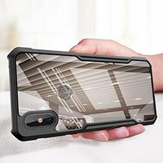 Custodia Silicone Ultra Sottile Morbida Specchio M01 per Xiaomi Mi Mix 3 Nero