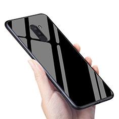 Custodia Silicone Ultra Sottile Morbida Specchio M04 per Xiaomi Pocophone F1 Nero