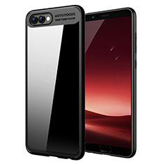 Custodia Silicone Ultra Sottile Morbida Specchio M05 per Huawei Honor V10 Nero