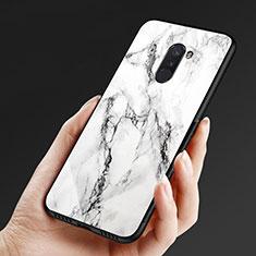 Custodia Silicone Ultra Sottile Morbida Specchio M05 per Xiaomi Pocophone F1 Bianco