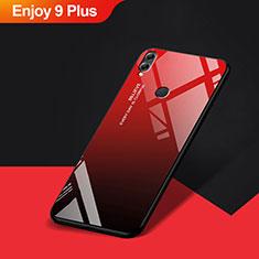 Custodia Silicone Ultra Sottile Morbida Specchio per Huawei Enjoy 9 Plus Rosso