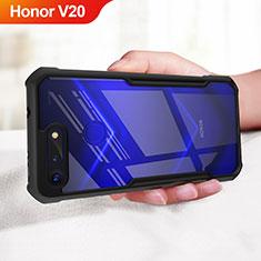 Custodia Silicone Ultra Sottile Morbida Specchio per Huawei Honor V20 Nero